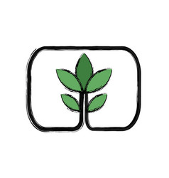 Green plant growth ecology environment vector