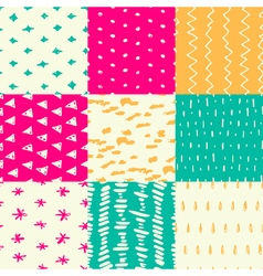 Handdrawn pattern set vector