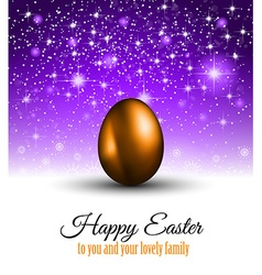 happy easter background with a colorful egg vector image