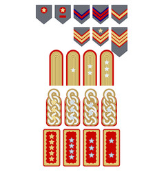 Insignia of chiles army vector