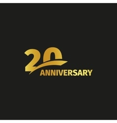 Isolated abstract golden 20th anniversary logo on vector image