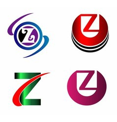 Letter Z logo Icons Set Graphic Design vector