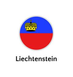 Liechtenstein flag round flat icon european vector