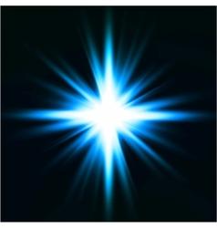 Light flare blue effect vector