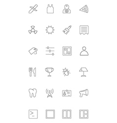 Line icons 18 vector