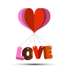 love symbol with paper cut heart vector image