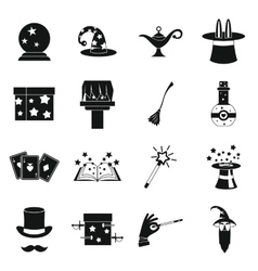 Magic icons set simple style vector image vector image