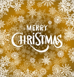 Merry christmas - gold glittering lettering design vector