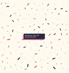 Minimal memphis style background design vector