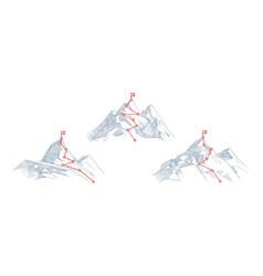 mountain paths progress success hiking path vector image
