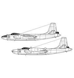 North american b-45 tornado vector