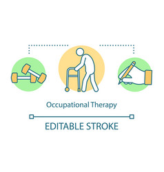 occupational therapy concept icon vector image