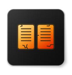Orange glowing neon the commandments icon isolated vector