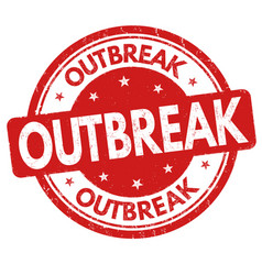 outbreak sign or stamp vector image