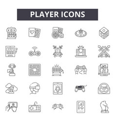 player line icons signs set linear vector image