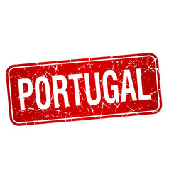 portugal red stamp isolated on white background vector image