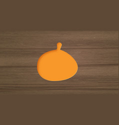 pumpkin paper cut shape vector image
