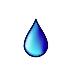 realistic water drop logo design vector image