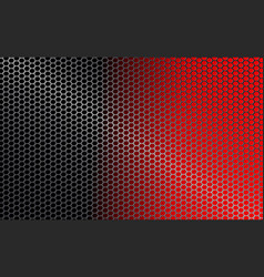 Red black geometric background with metal grille vector