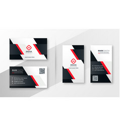 red company business card design vector image