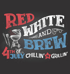 Red white and brew 4th july celebration vector