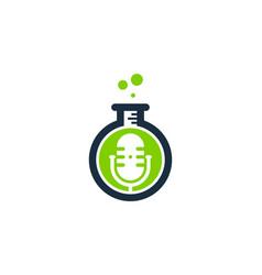 research podcast logo icon design vector image