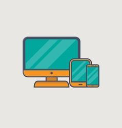 Responsive web design line vector image
