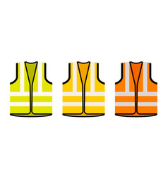 safety jacket security icon life vest vector image
