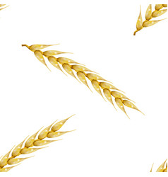 Seamless background with wheat spikelets vector