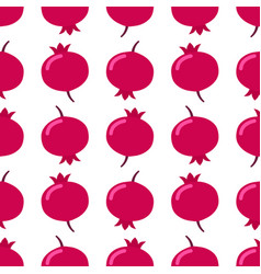seamless pomegranate pattern on white background vector image