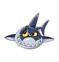 Shark crafty cartoon vector