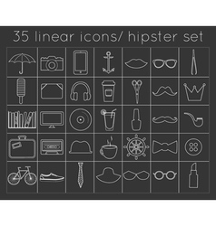 signs and symbols hipster templates for your vector image