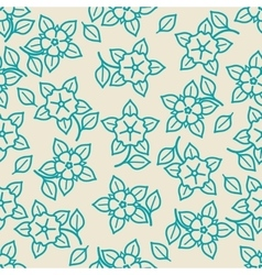 Simple minimalistic seamless floral pattern vector