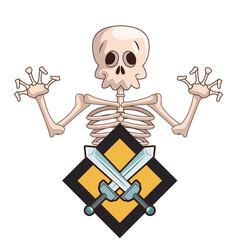 Skull videogame cartoon vector