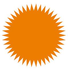 Starburst sunburst shape flat price tag price vector