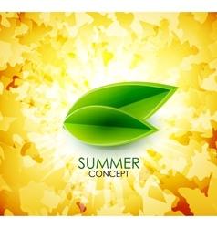 Summer leaf shiny background vector