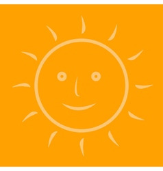 The sun on an orange background vector image