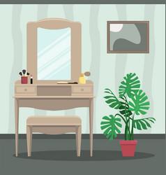 trellis with mirror vector image
