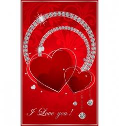 Valentine illustration with the diamonds vector