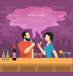 Vapor electronic cigarettes smoking poster vector