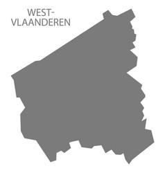 West-vlaanderen belgium map grey vector