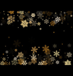 winter snowflakes border simple vector image