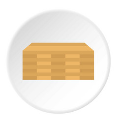 Wooden boards icon flat style vector