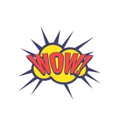 Wow Comic Speech Bubble vector image
