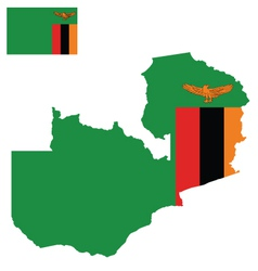 Zambia Flag vector image