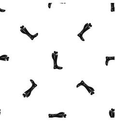Zombie leg pattern seamless black vector