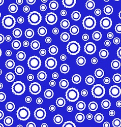 Abstract Seamless Pattern in Blue and White Colors vector image vector image