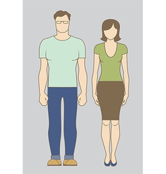 Caucasian Couple vector image vector image