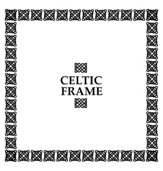 Celtic knot square frame vector image