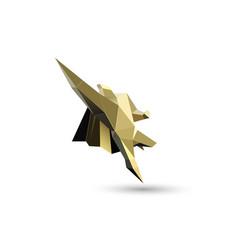 Gold flying superhero character business power vector